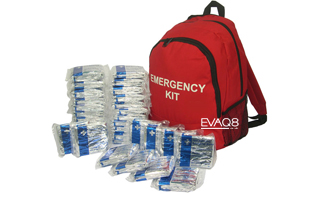 50 Foil Blankets in Emergency Kit Grab Bag - safe evacuation, first aid & prevention of shock and hypothermia | Foil Blankets, standard and bespoke Emergency Kits from EVAQ8.co.uk the UK's emergency preparedness specialist