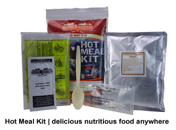 Beyond Foil Blankets, first aid and shelter: Emergency Food such as hot meal kits, survival rations, freeze dried food etc | Foil Blankets, standard and bespoke Emergency Kits from EVAQ8.co.uk the UK's emergency preparedness specialist