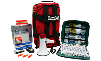 Site Evacuation Kit with 100 Foil Blanket and other Emergency Preparedness resources for safe evacuation | Foil Blankets, standard and bespoke Emergency Kits from EVAQ8.co.uk the UK's emergency preparedness specialist