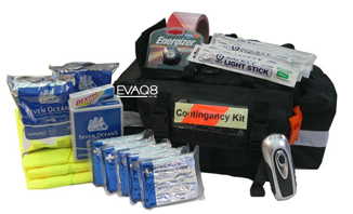 Contingency Kit Workplace Up To 20 Persons with Foil Blankets and other shelter-in-place supplies | Foil Blankets, standard and bespoke Emergency Kits from EVAQ8.co.uk the UK's emergency preparedness specialist